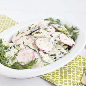 creamy cucumber crunch salad recipe