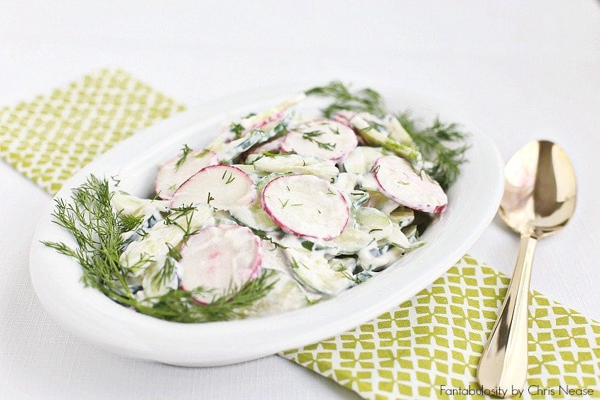 creamy cucumber crunch salad recipe