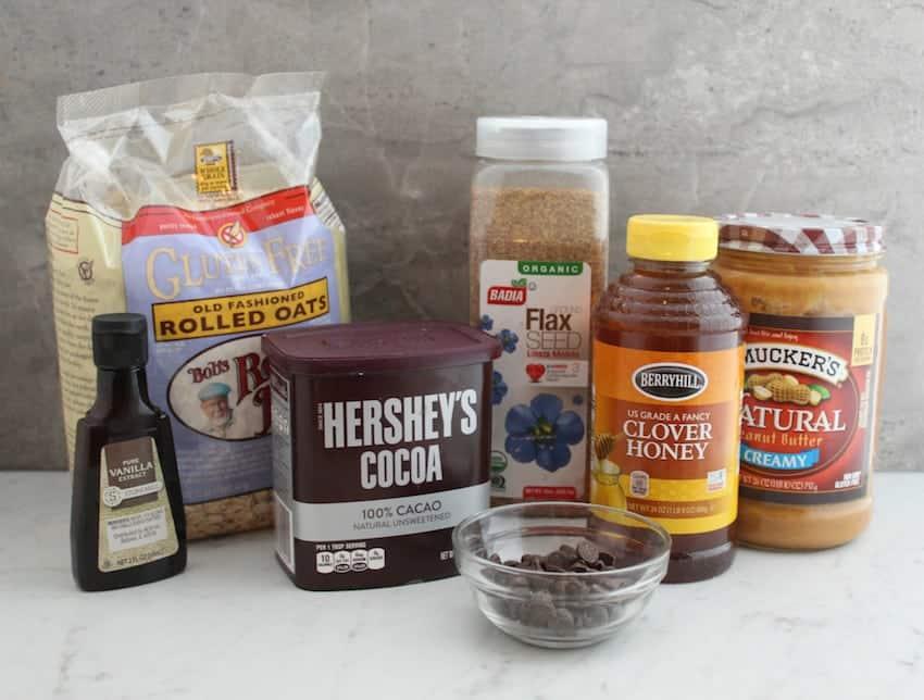 Ingredients for energy bites recipe