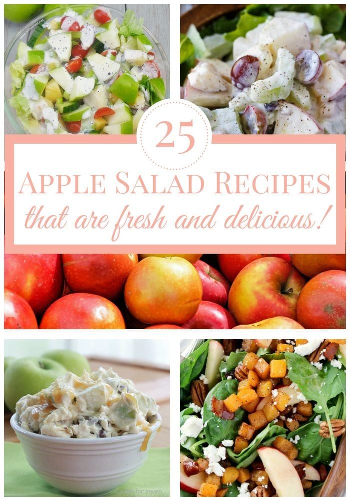apple salad recipes: Easy, Healthy, Snickers, Waldorf, and more side dishes and desserts!
