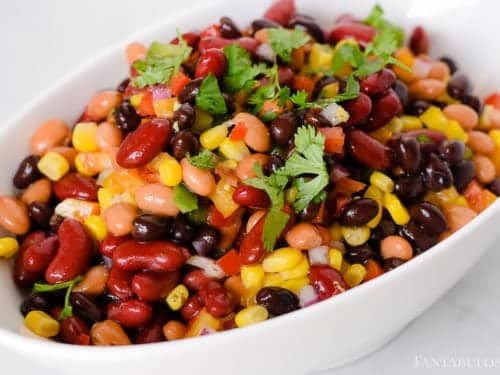 3 Bean Salad Recipe - Mexican Style