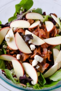 Apple Salad in bulk for dinner - side dish idea