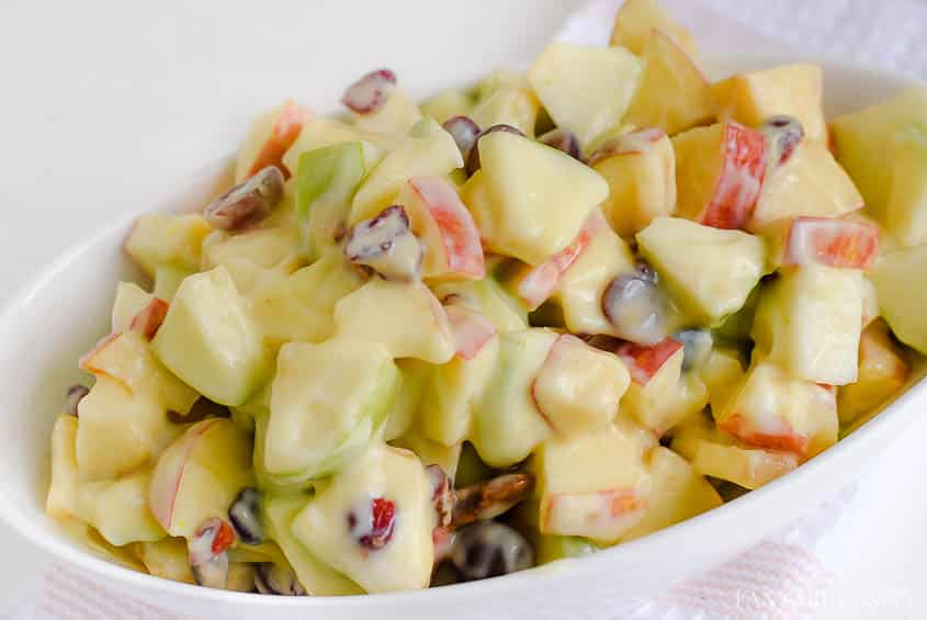 Apple Salad - Creamy yogurt, pudding dressing