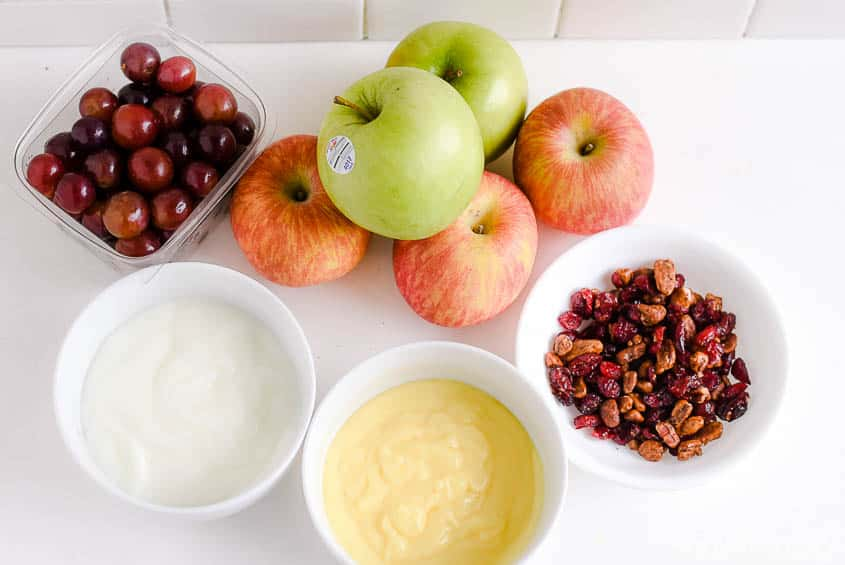 apple salad recipe - ingredients