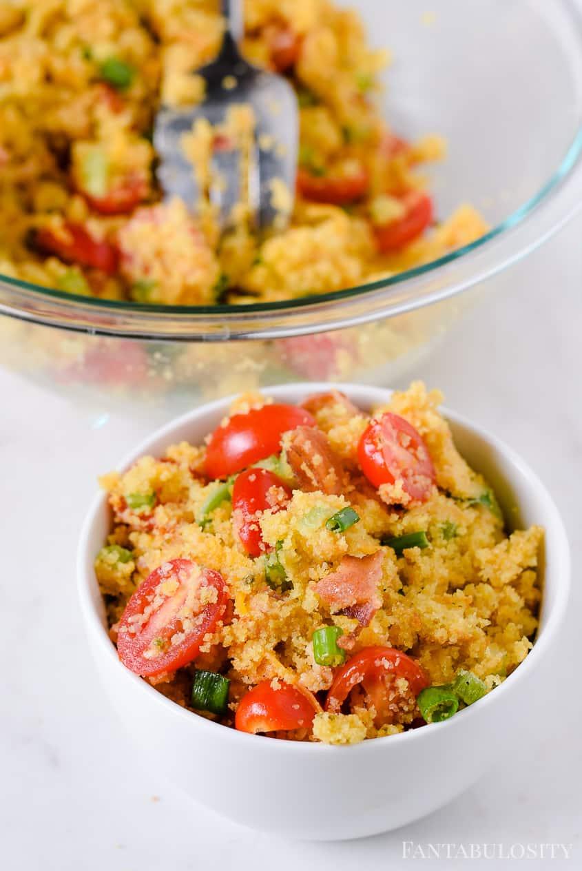 Side dish: cornbread salad