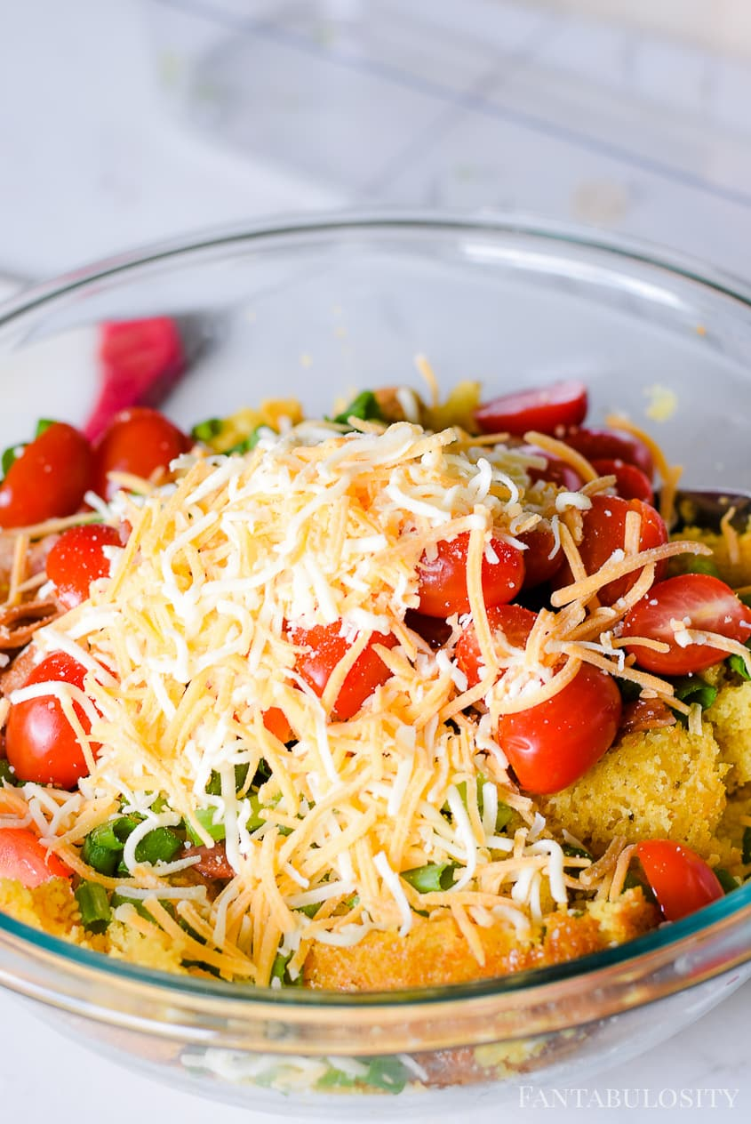 Cornbread Salad ingredients: How to make cornbread salad