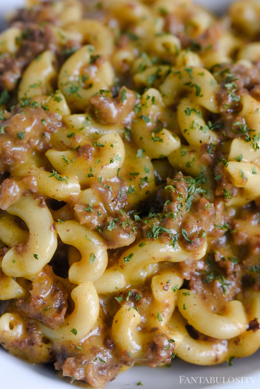 Cheeseburger Macaroni recipe in the Instant Pot