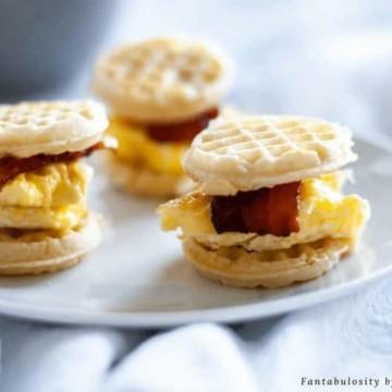 Mini Waffle Breakfast Sandwiches