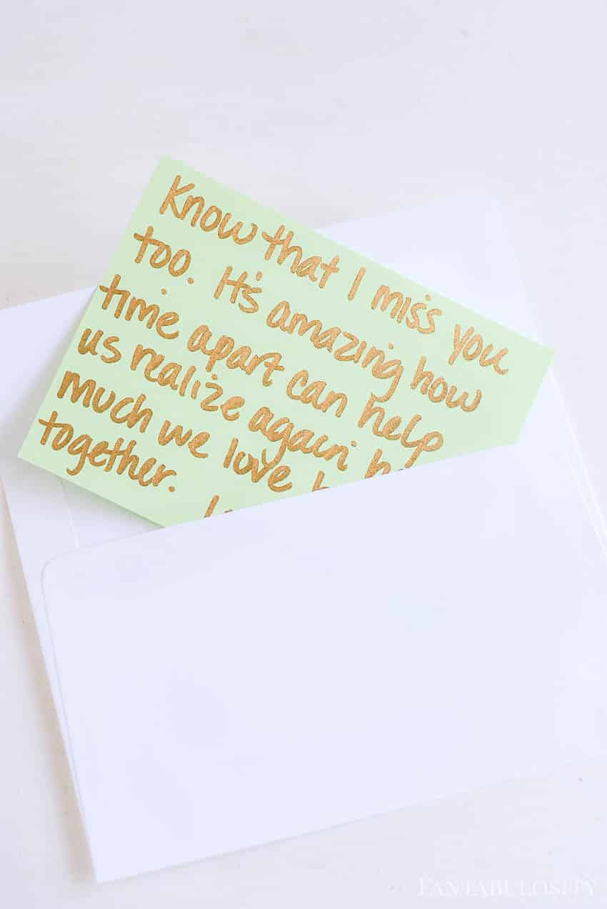 Open when letters and ideas for boyfriend, husband, friend, sister, brother, military, etc.