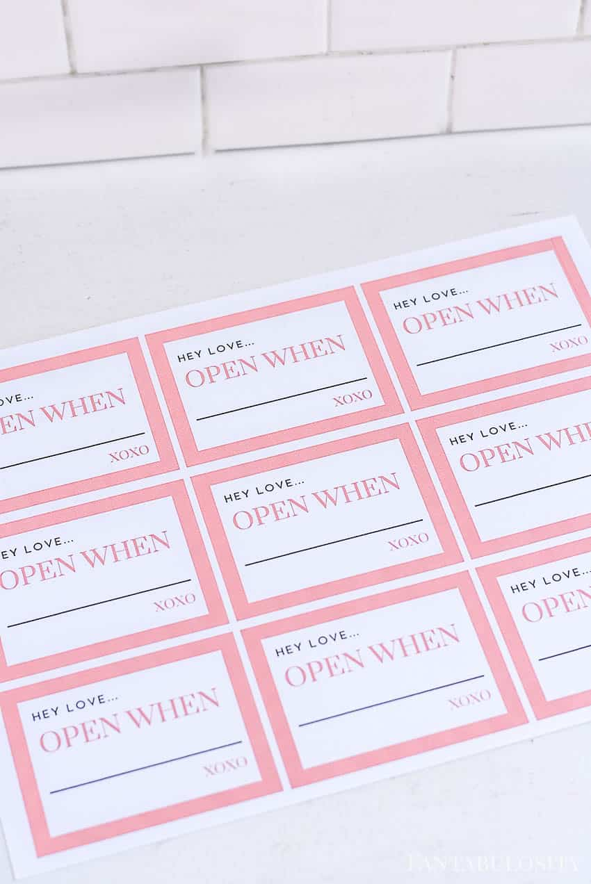 """""""Hey love"""" open when letters - free printables"""