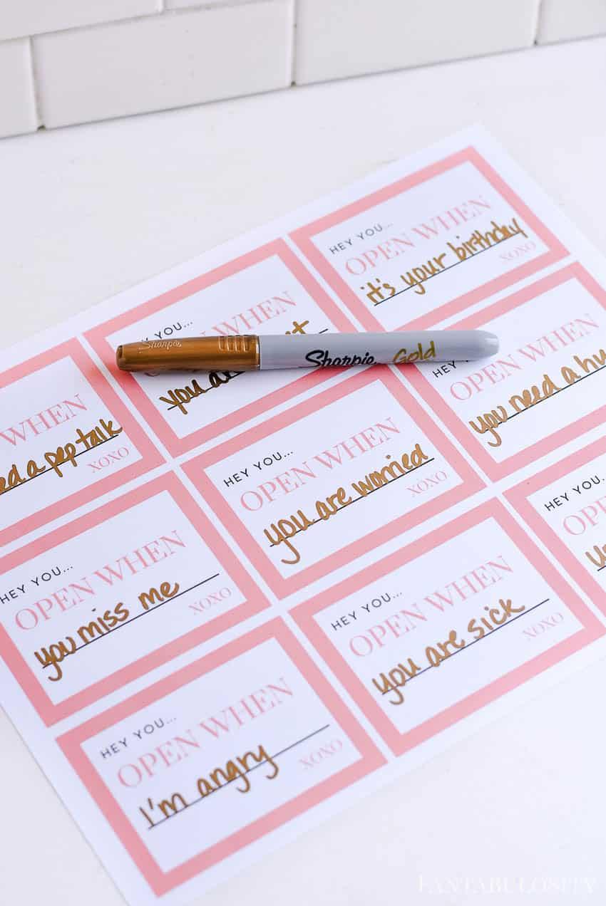 Open when letter ideas - for boyfriend, husband or friend