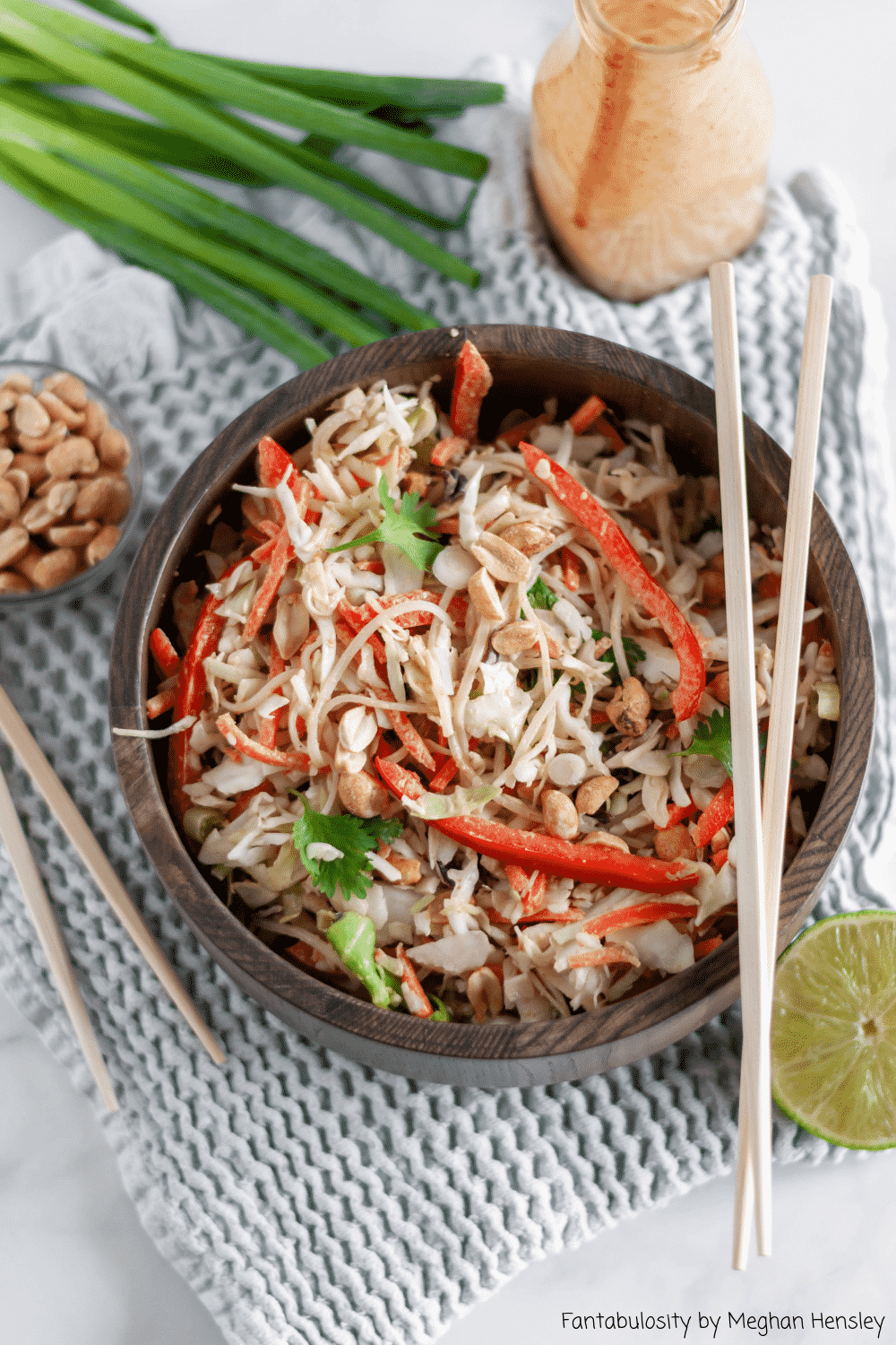 Thai Salad with Noodles and Cabbage is packed full of flavor and texture.