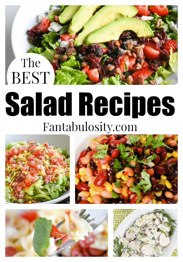 These are some of the BEST salad recipes around! Easy, healthy, pot luck, side salads and more!
