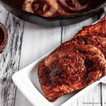 BBQ Boneless Pork Chops are a simple and delicious weeknight dinner that's on the table in 30 minutes.