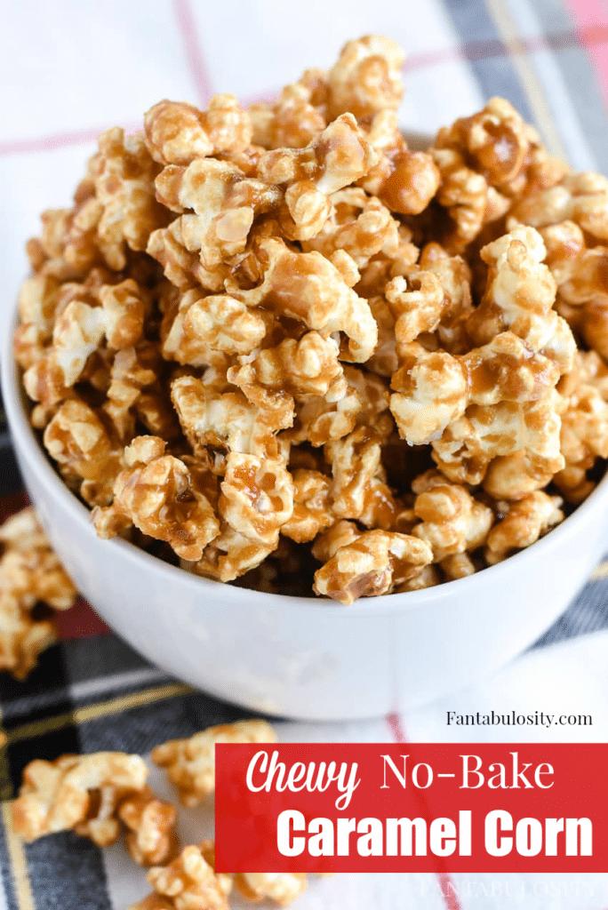 YUMM-O! Easy, Chewy No Bake Caramel Corn Homemade Recipe