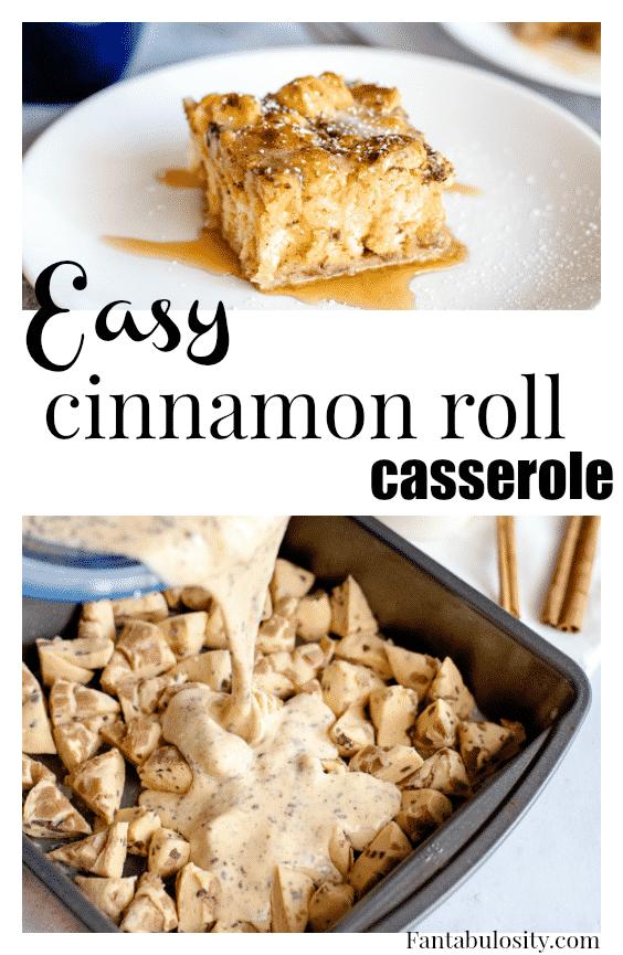 Easy Cinnamon Roll Casserole Recipe - Using Pillsbury Refrigerated Rolls