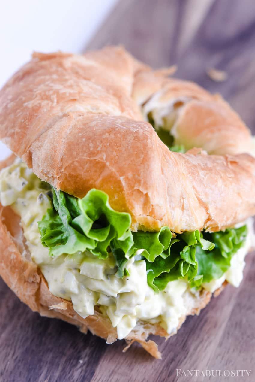 Egg Salad Sandwich Recipe with pesto