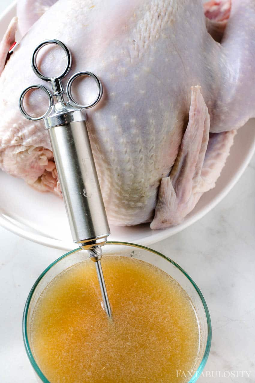 How to inject a turkey