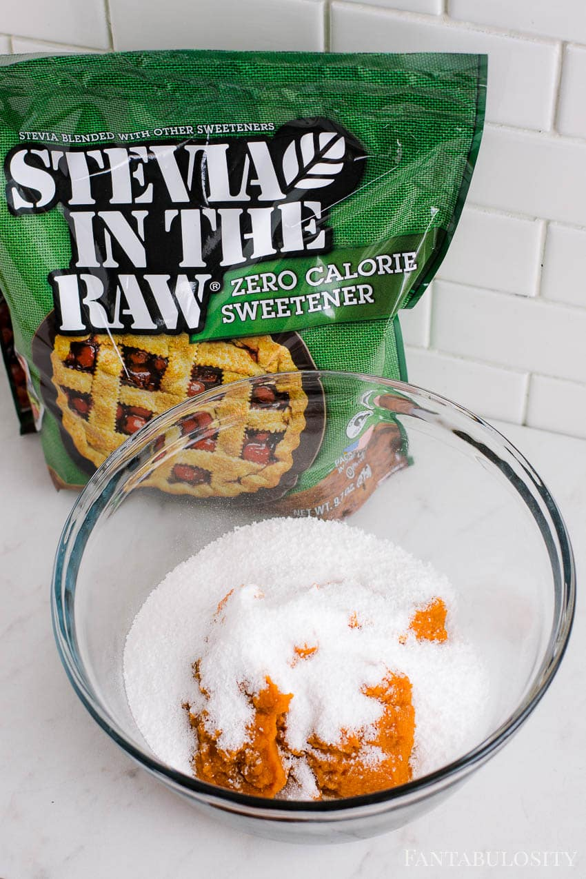Canned Pumpkin and Stevia for low carb muffins