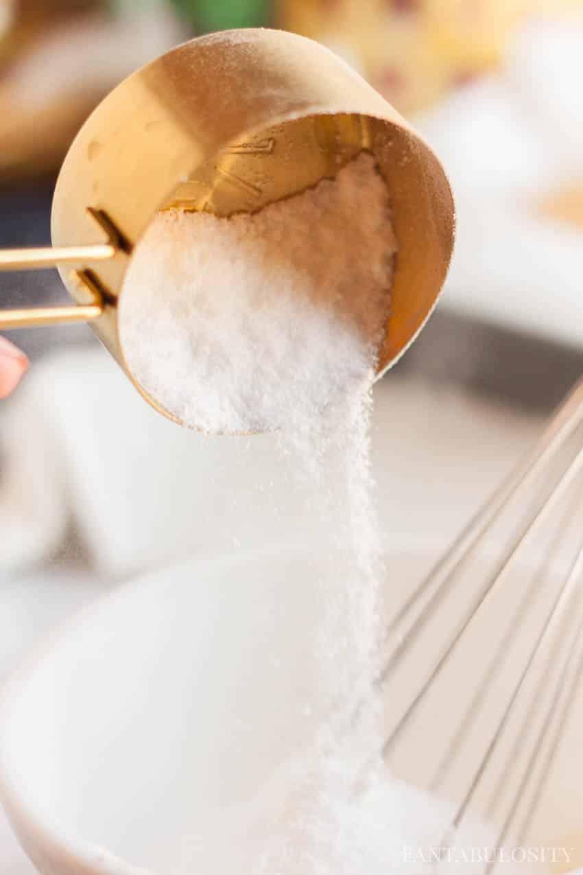 Yogurt Drizzle recipe for granola bars, using stevia