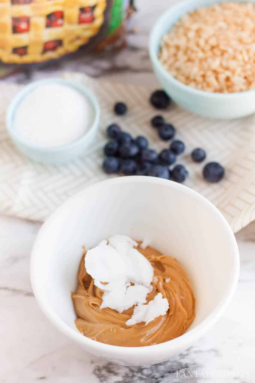 coconut oil for granola bars made with stevia - healthy recipe