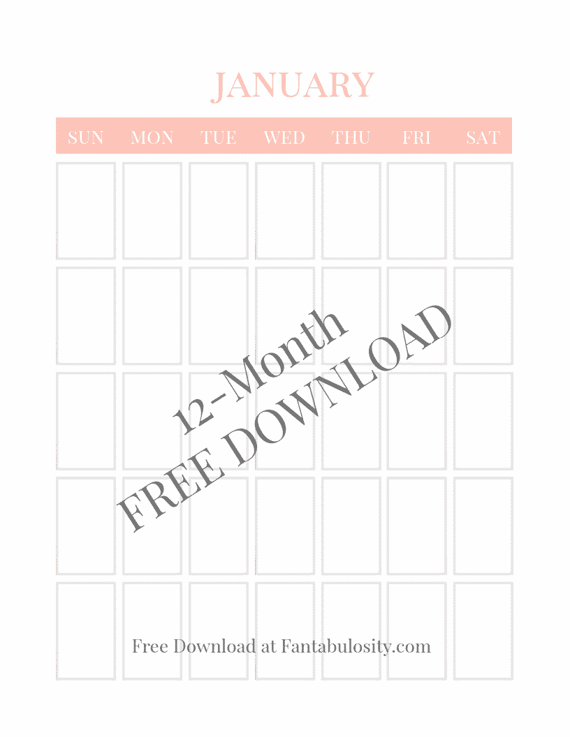 Free calendar download - printables