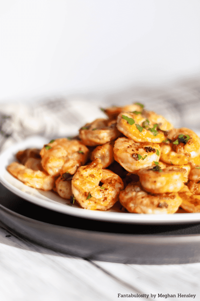 Grilled Shrimp on a white plate