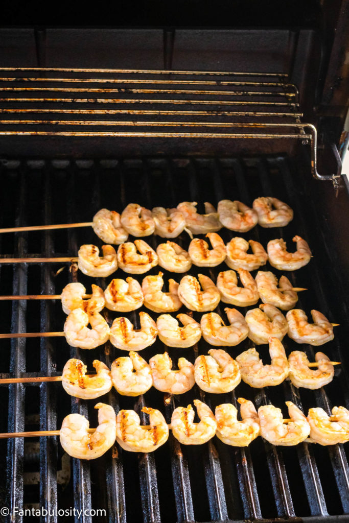 cooked shrimp on grill