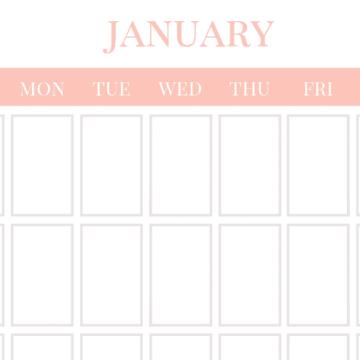 Blank Calendar Printable - Free Download