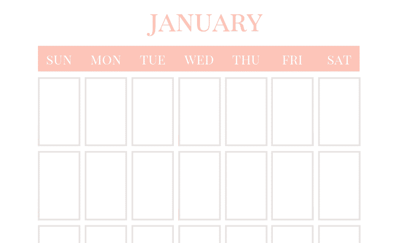 photo about Calendar Printable called Blank Calendar - No cost Vertical Month-to-month Calendar Printable