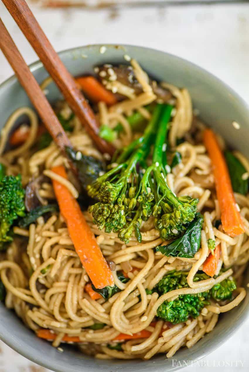 noodle bowl - vegan recipe