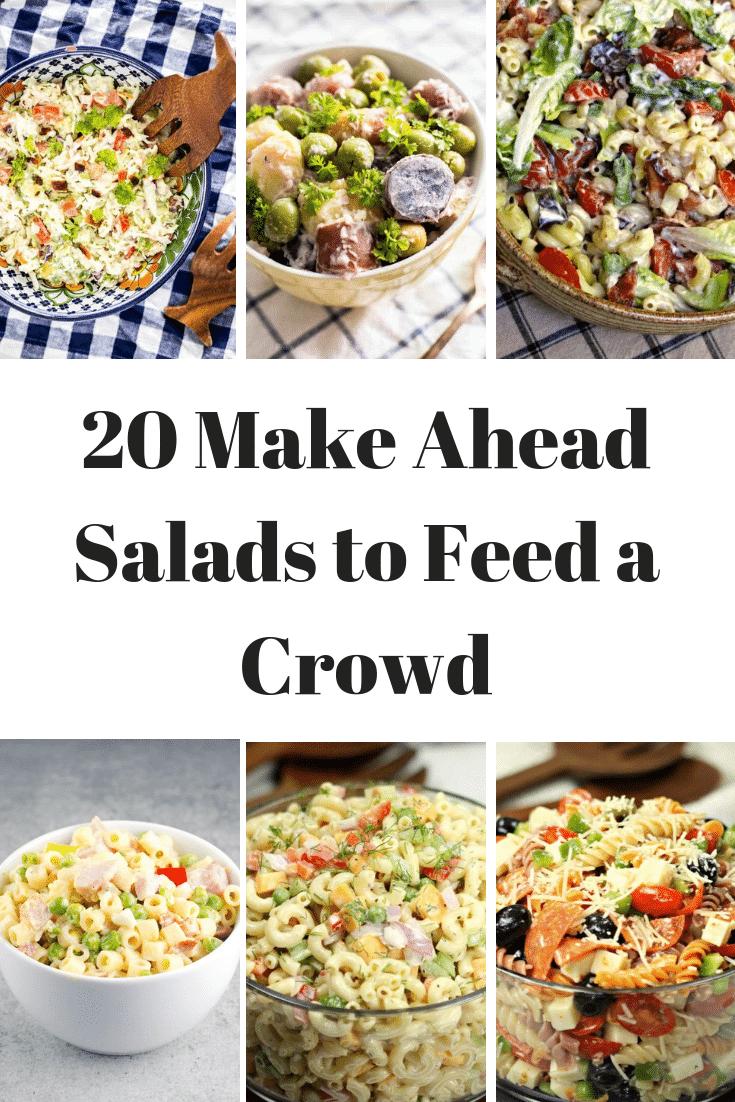 SOOO using this list! 20 Make ahead salads to feed a crowd!