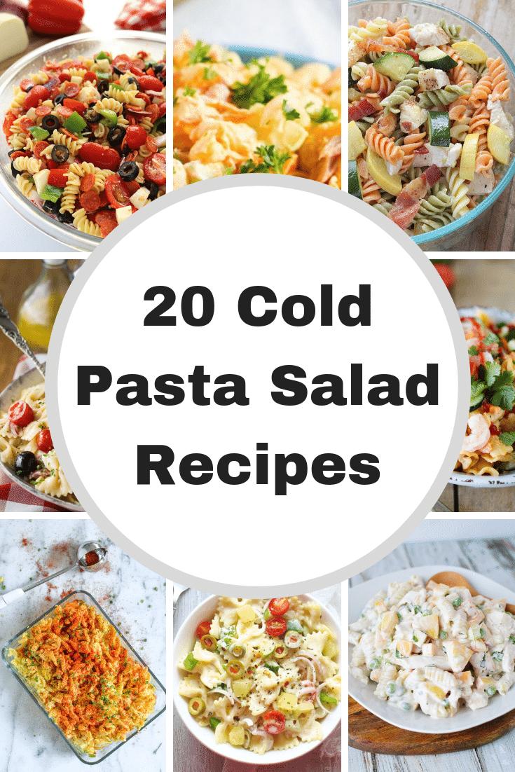 LOVE these cold pasta salad recipes: Italian, Tuna, Easy and so many more fun recipes!