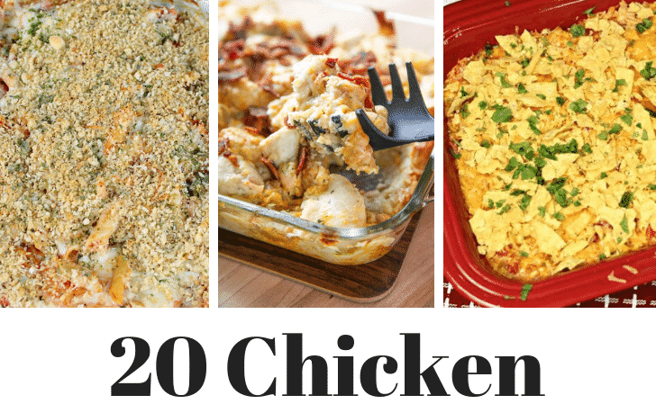 20 chicken casserole recipes