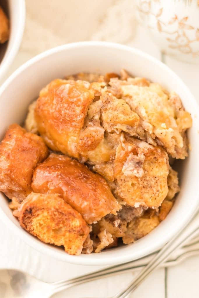 Donut bread pudding recipe