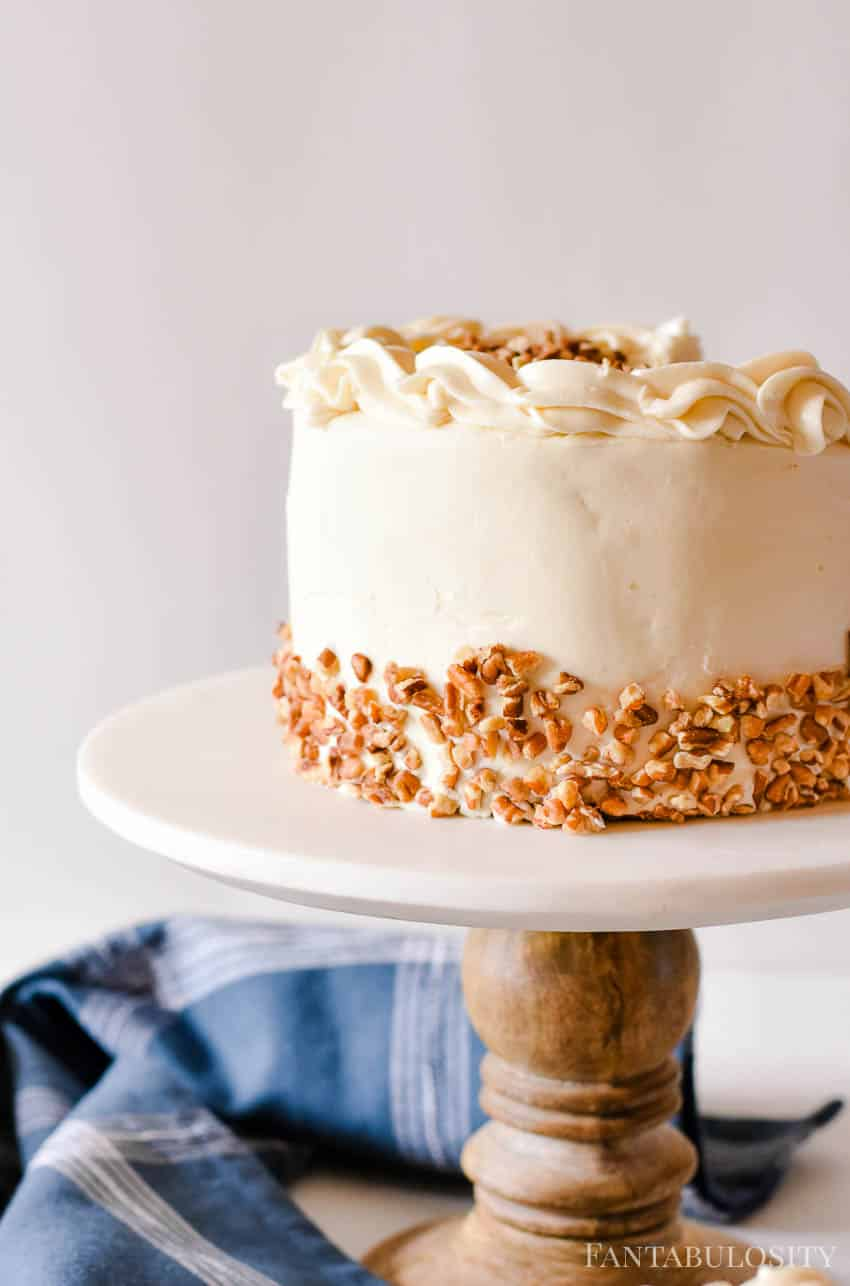 Carrot cake with cream cheese frosting - from scratch