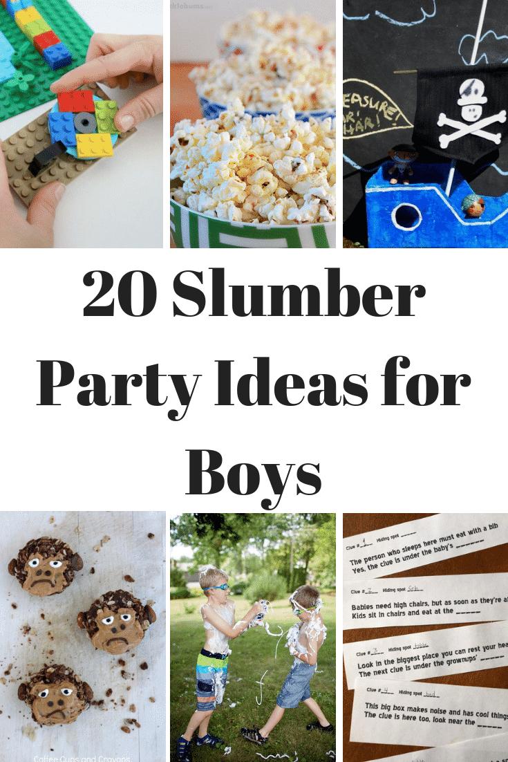 So FUN! Slumber party ideas for boys for a sleepover