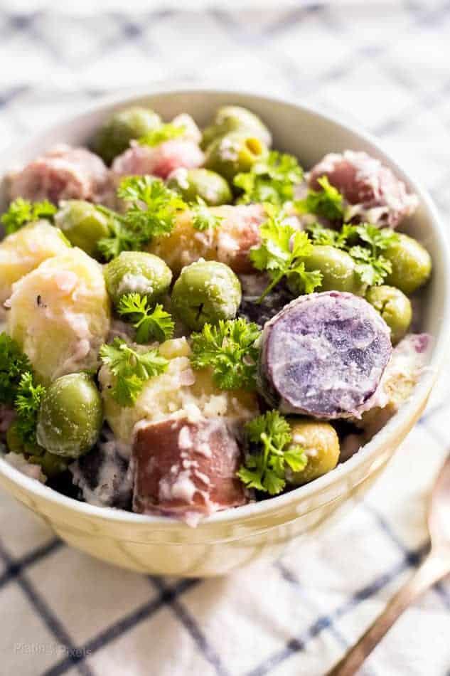 Pickled Green Olive Potato Salad