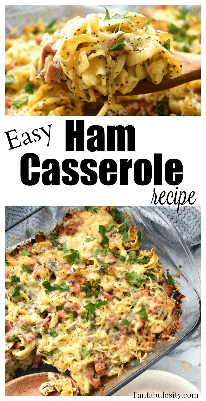 YUUUM! Comfort food! Easy ham casserole recipe