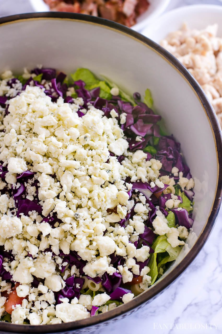 Italian Chopped Salad - blue cheese, gorgonzola on top