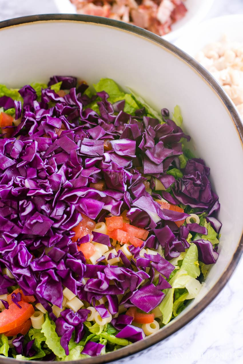 Italian Chopped Salad like from portillo's and Giordano's - red cabbage