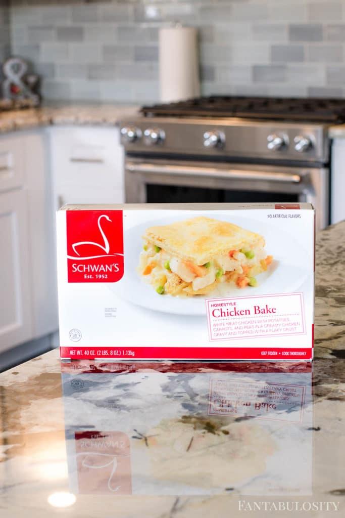 Schwan's - Homestyle Chicken Bake on a kitchen counter