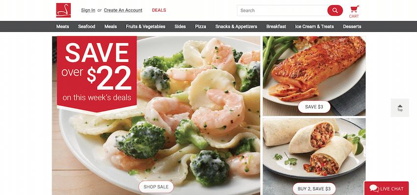 Schwan's Online Ordering Website