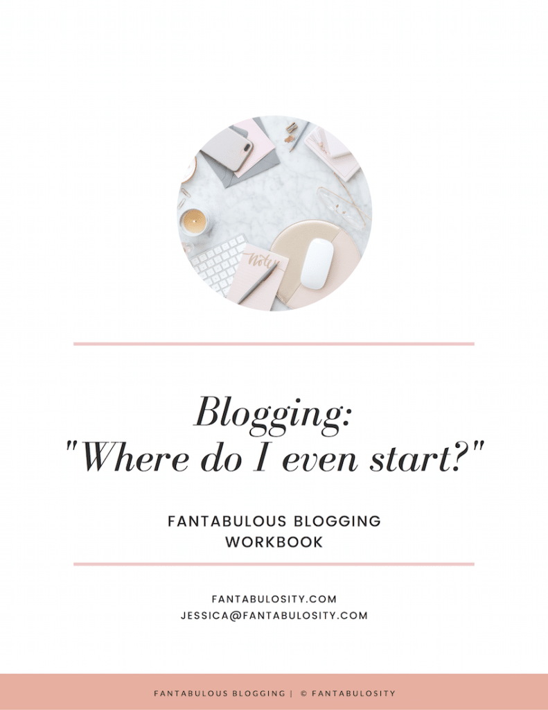 How to start a blog workbook
