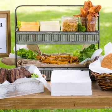 Burger Bar Ideas for an outdoor party