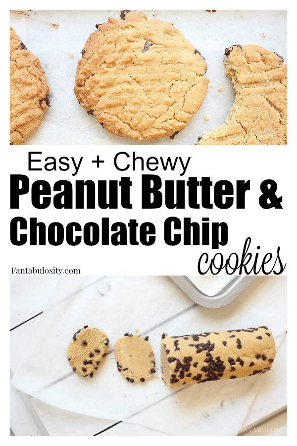 Ooooh la la! These are DELISH! Easy and chewy peanut butter and chocolate chip cookie recipe! #chocolatechipcookies #peanutbutter #peanutbutterchocolatechipcookies #easy #cookierecipe #cookies #chewycookies