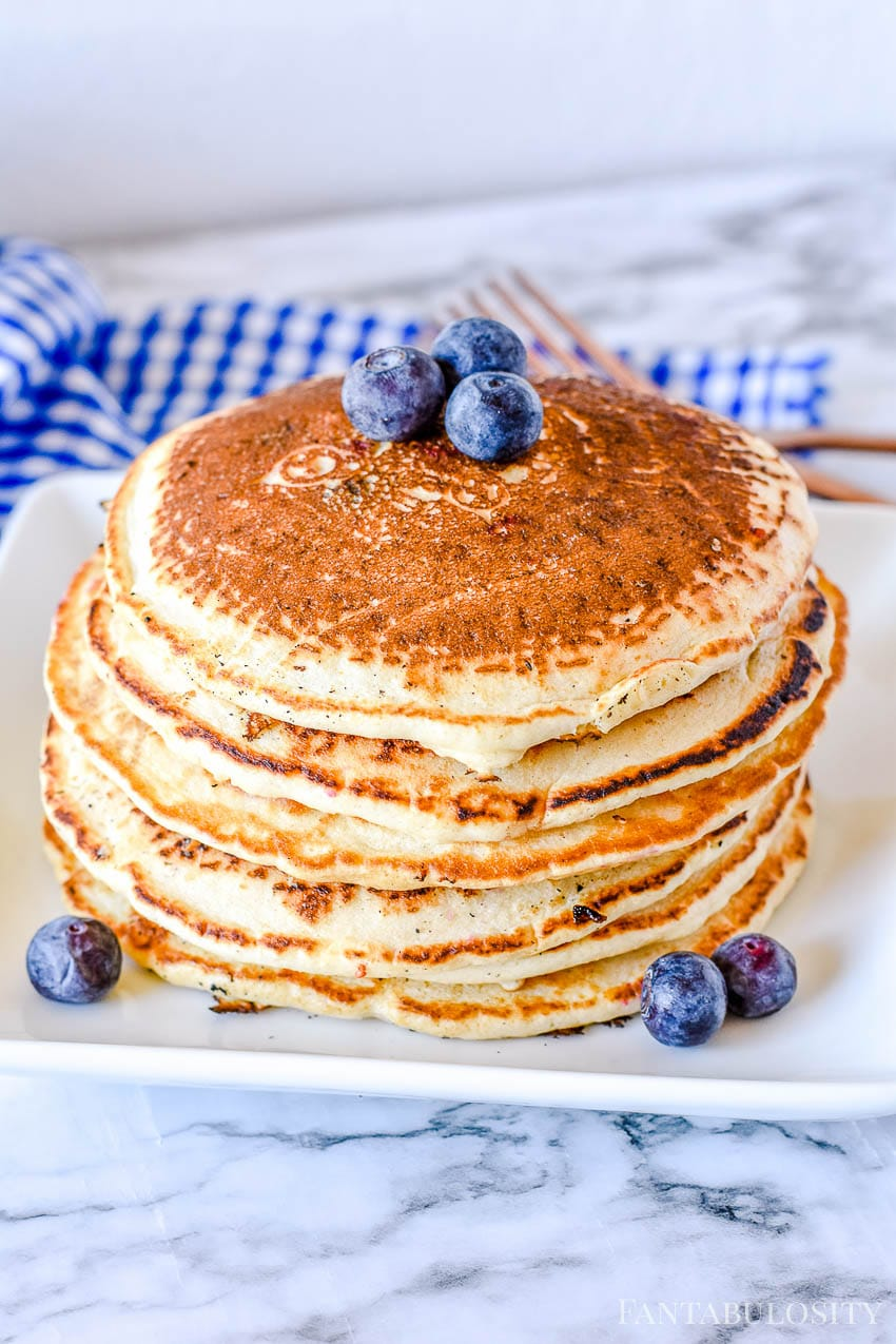 Fluffy Blueberry Pancake Recipe from scratch