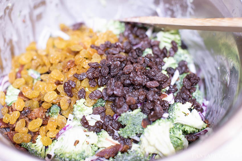 Raisins for broccoli salad recipe
