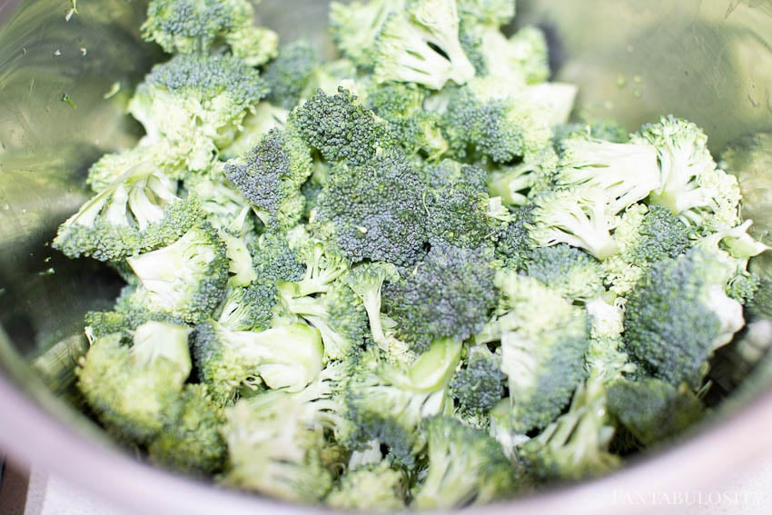 Broccoli for cold side salad
