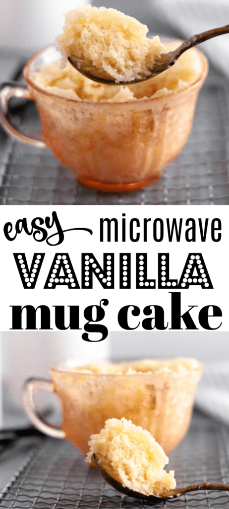 vanilla mug cake recipe